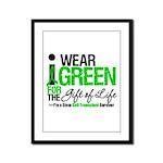 I Wear Green SCT Survivor Framed Panel Print