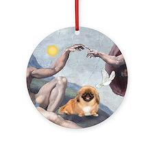 """Creation"" & Pekingese Ornament (Round)"