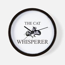 The Cat Whisperer Wall Clock