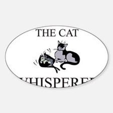 The Cat Whisperer Oval Decal