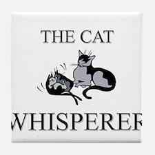 The Cat Whisperer Tile Coaster