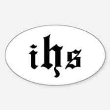 """IHS - In Hoc Signo"" Oval Decal"