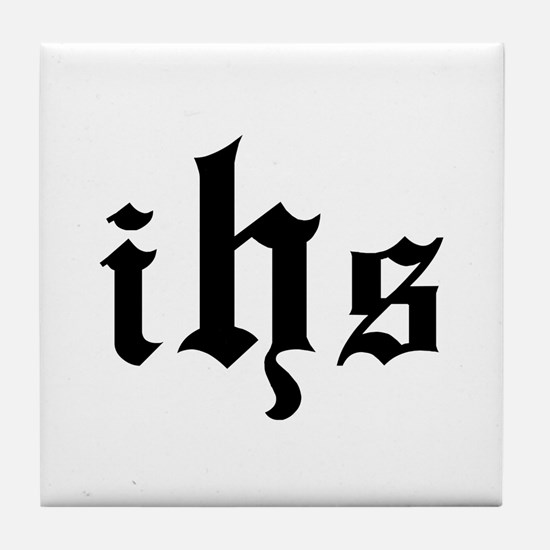 """""""IHS - In Hoc Signo"""" Tile Coaster"""