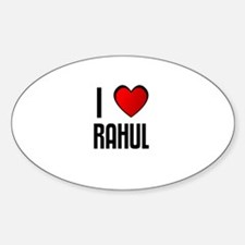 I LOVE RAHUL Oval Decal
