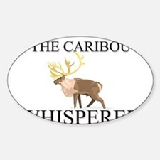 The Caribou Whisperer Oval Decal