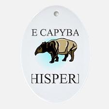 The Capybara Whisperer Oval Ornament