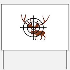 Deer Hunter Crosshair Yard Sign