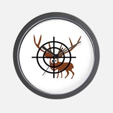 Deer Hunter Crosshair Wall Clock