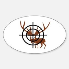 Deer Hunter Crosshair Oval Decal