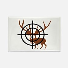 Deer Hunter Crosshair Rectangle Magnet (100 pack)