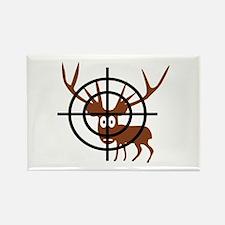 Deer Hunter Crosshair Rectangle Magnet
