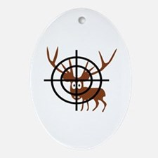 Deer Hunter Crosshair Oval Ornament