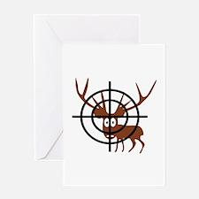 Deer Hunter Crosshair Greeting Card