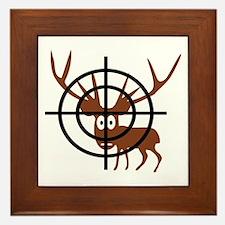Deer Hunter Crosshair Framed Tile