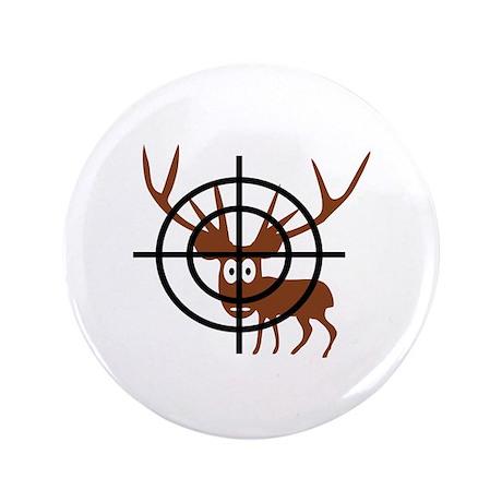 """Deer Hunter Crosshair 3.5"""" Button (100 pack)"""