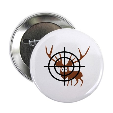 "Deer Hunter Crosshair 2.25"" Button (100 pack)"