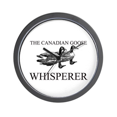 The Canadian Goose Whisperer Wall Clock