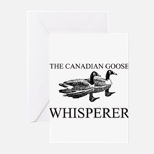 The Canadian Goose Whisperer Greeting Cards (Pk of