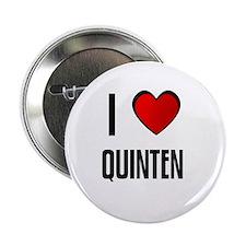 """I LOVE QUINTEN 2.25"""" Button (100 pack)"""