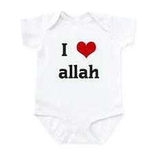 I Love allah Infant Bodysuit