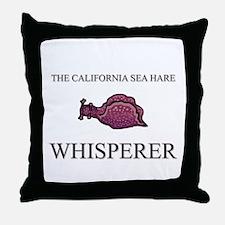 The California Sea Hare Whisperer Throw Pillow