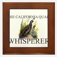 The California Quail Whisperer Framed Tile