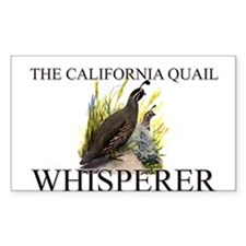 The California Quail Whisperer Rectangle Decal