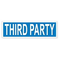 Third Party Bumper Bumper Sticker
