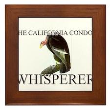 The California Condor Whisperer Framed Tile