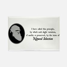 Natural Selection Quote Rectangle Magnet