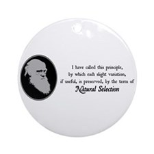 Natural Selection Quote Ornament (Round)