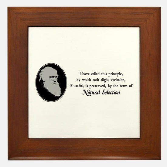 Natural Selection Quote Framed Tile