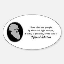 Natural Selection Quote Oval Decal