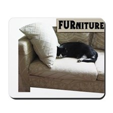 Cat on FURniture Mousepad