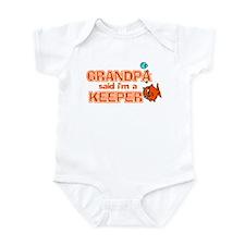 Grandpa Said I'm A Keeper Infant Bodysuit