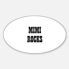 MIMI ROCKS Oval Decal
