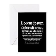 Lorem Ipsum Greeting Card