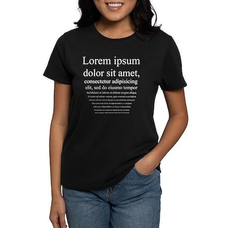 Lorem Ipsum Women's Dark T-Shirt