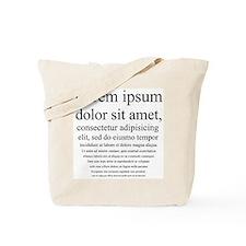 Lorem Ipsum Tote Bag