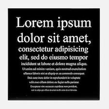 Lorem Ipsum Tile Coaster