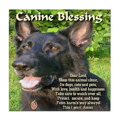 Canine Blessing Tile Coaster