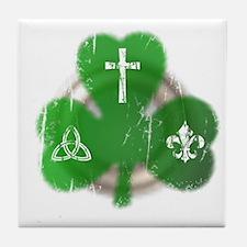 St. Patrick's Day Irish Tile Coaster