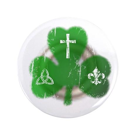 "St. Patrick's Day Irish 3.5"" Button"