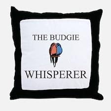The Budgie Whisperer Throw Pillow
