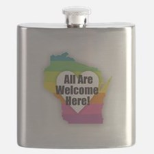 Wisconsin - All Are Welcome Here Flask