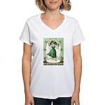 Irish Channel Woman Women's V-Neck T-Shirt
