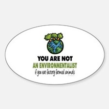 Animals Rights Oval Decal