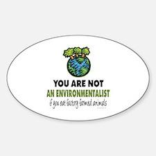 Animals Rights Oval Sticker (10 pk)