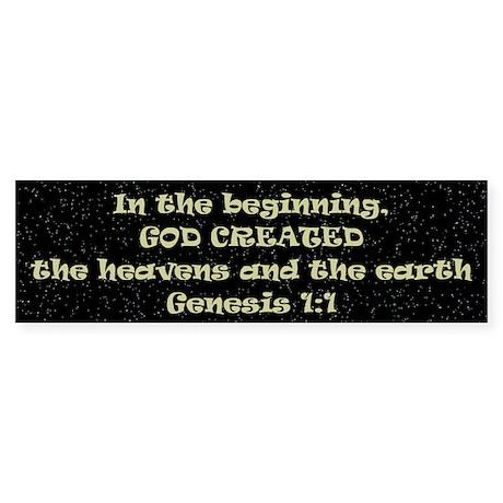 God Created Bumper Sticker (10 pk)