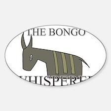 The Bongo Whisperer Oval Decal